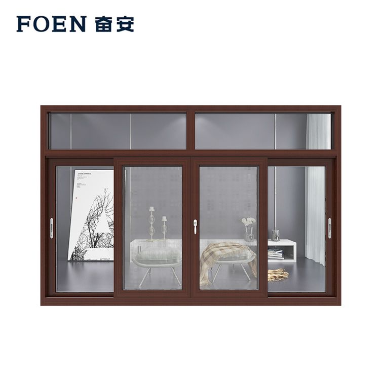 Anodised Aluminum horizontal sliding windows