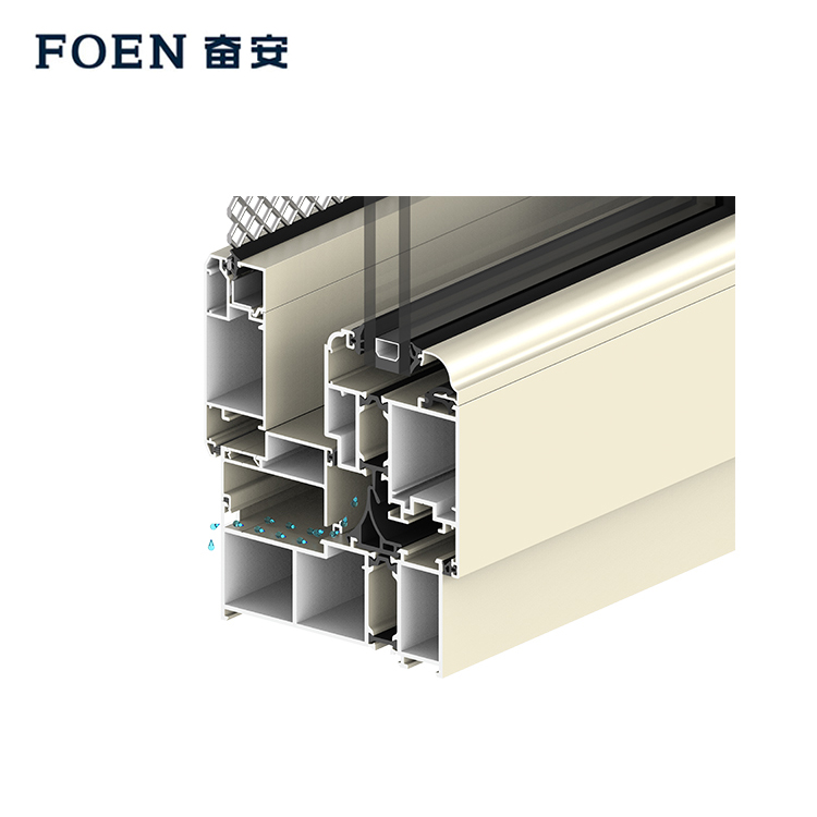 Aluminum soundproof horizontal casement windows